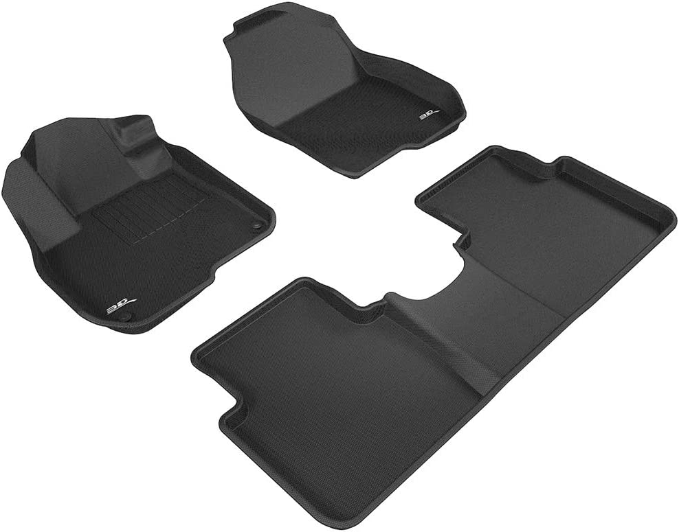 CFMCX1HI7093 Nylon Carpet Coverking Custom Fit Rear Floor Mats for Select Hyundai Veracruz Models Black
