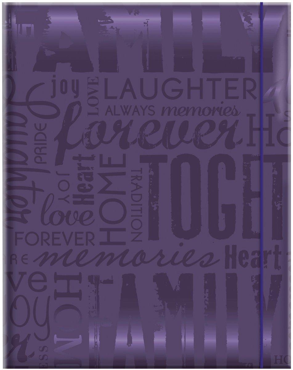 MCS 100 Pocket Big Max Embossed Family Album, Purple (823365) by MCS