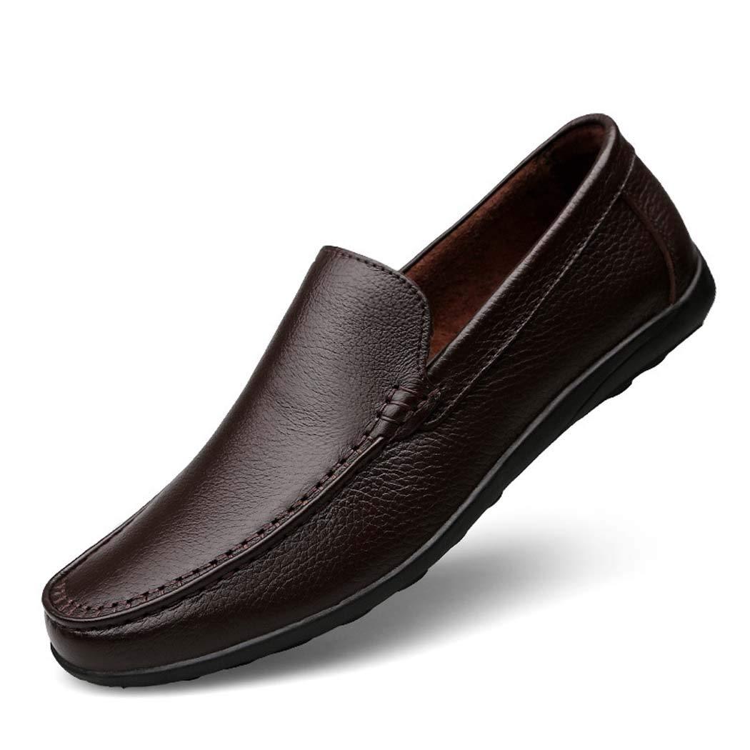 Mocasines de conducción para Hombre Clásico cómodo Slip-on Zapatos de Barco para los Hombres 44 EU|Marrón