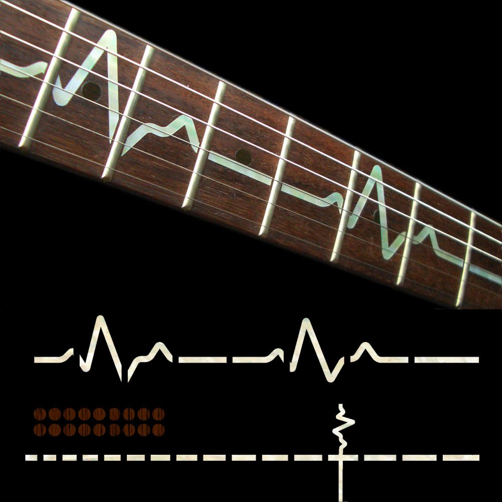 Amazon.com: Fretboard Markers Inlay Sticker Decals for Guitar - EKG  Line-WP: Musical Instruments