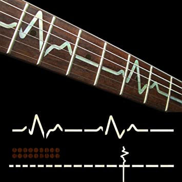 Fretboard markers inlay sticker decals for guitar ekg line wp