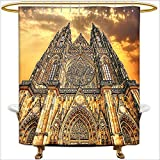 Best Georgia European Coffees - Qinyan-Home Shower Curtain European Church Catholic Gifts Sunset Review