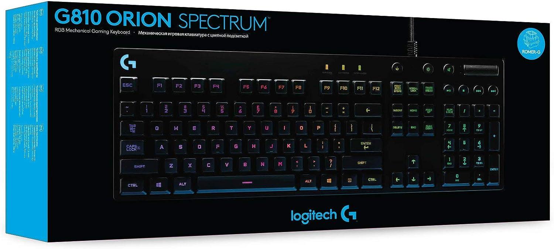 Logitech G810 - Teclado mecánico RGB para Gaming Orion Spark ...