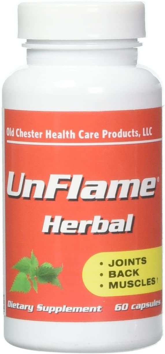 UnFlame Excellent Herbal Formula for Joints, Muscles and Back – 60 capsules