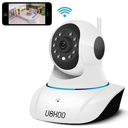 Cámara IP, uokoo 720P WiFi Cámara de seguridad Internet cámara de vigilancia Micrófono integrado,