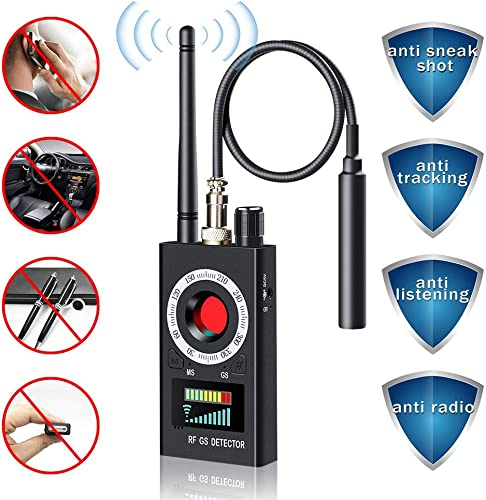 Anti Spy Detector Camera Finder RF Signal Detector GPS Bug Detector Hidden Camera Detector for GSM Tracking Device GPS Radar Radio Frequency Detector