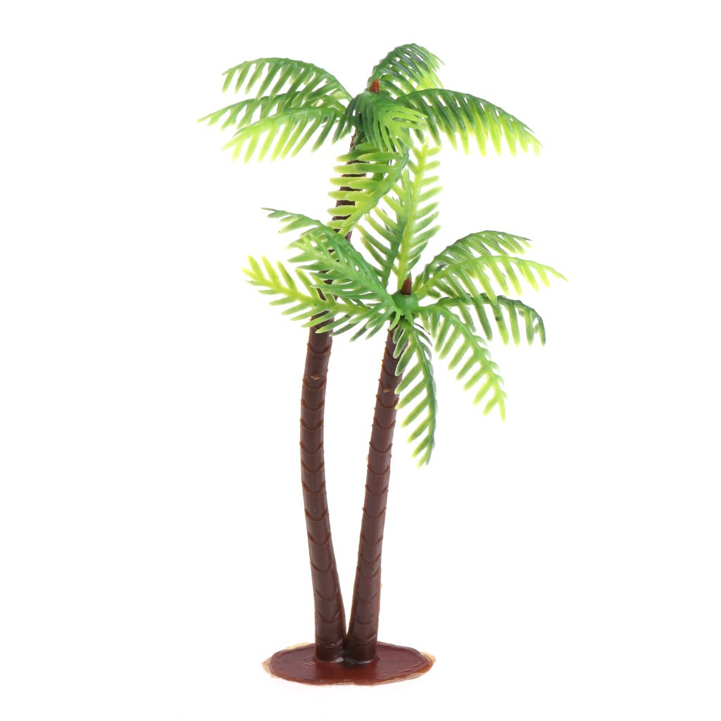 cici store Mini Scenery Landscape Artificial Coconut Palms Tree - Home Decor Ornaments