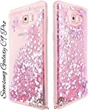 DORRON Fashion Girls Samsung Galaxy C9Pro (Pink) New Bling Liquid Design Love Heart Waterfall Beautiful Unique Cute Fancy Elegant Trendy Stylish Designer Soft TPU Back Case Cover For Samsung Galaxy C9 Pro (Pink)