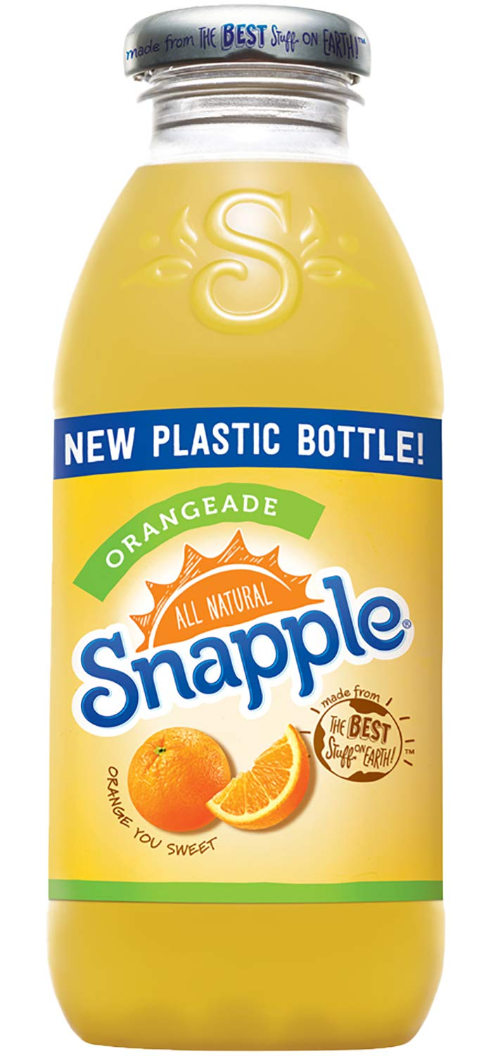 Snapple - Orangeade - 16 fl oz (24 Plastic Bottles) by Snapple