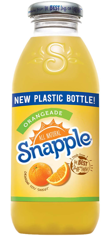 Snapple - Orangeade - 16 fl oz (24 Plastic Bottles)