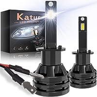 KATUR H1 Led Bombillas para Faros Delanteros Diseño Mini Chips de CREE mejorados 12000 LM Kit de conversión LED Todo en…