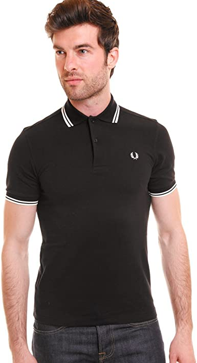 Fred Perry - Polo - para Hombre Blanco y Negro XX-Large: Amazon.es ...