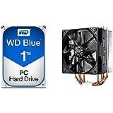 WD Blue 1TB SATA 6 Gb/s 7200 RPM 64MB Cache 3.5 Inch Desktop Hard Drive (WD10EZEX) with Cooler Master Hyper 212 EVO RR-212E-20PK-R2 CPU Cooler with 120mm PWM Fan bundle