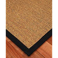 NaturalAreaRugs Sorrento Natural Sisal Fiber Runner Rug, Handmade in USA, 100% Sisal, Non-Slip Latex Backing, Durable, Eco/Environment-Friendly, (2 Feet 6 Inches x 8 Feet) Black Border