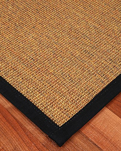 NaturalAreaRugs Sorrento Sisal Rug, Black Cotton Border, Eco-Friendly, 12' x 15' by NaturalHomeRugs