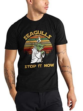 a4b1ade3e Yoda Seagull Stop It Now - Funny Vintage Awesome Trending Shirt for Star  Wars Fans Unisex
