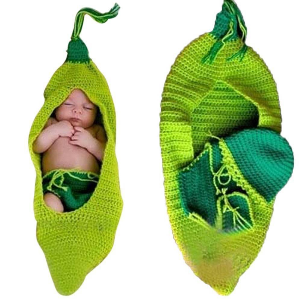 DAYAN 2016 último bebé de punto de ganchillo Beanie haba de guisante Fotografía Complementos Disfraz saco de dormir de vestimenta: Amazon.es: Bebé