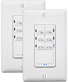 Amazoncom Enerlites HETW Countdown Timer Switch Fan Switch - Bathroom fan timer and light switch for bathroom decor ideas