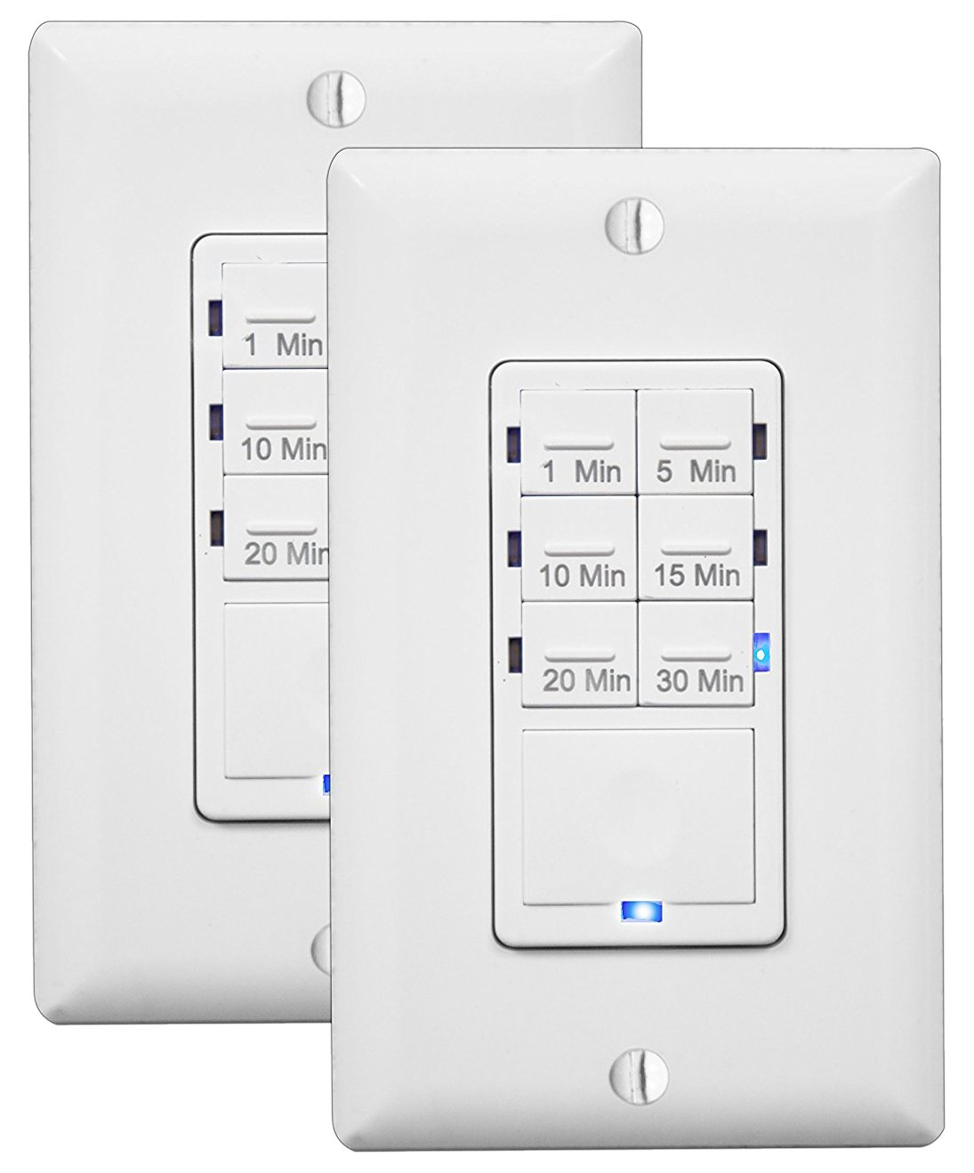 Enerlites In Wall Timer Switch Fan Countdown Wiring Bath Light Bathroom 1 30 Min Night Led Indicator