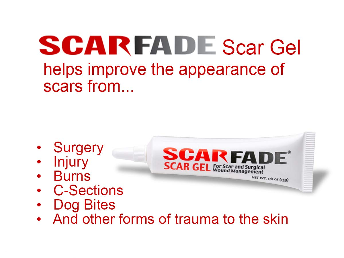 Scarfade Silicone Scar Gel for Scar Repair, Scar Treatment - 15g Tube by ScarFade