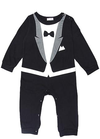 cc8661452bf06 (コ-ランド) Co-land ベビー服 スーツ風 ロンパース 赤ちゃん カバーオール 新生児 長袖
