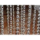Crystal Acrylic Gems Bead Strands Wedding Table Centerpieces Wishing Tree Garland Decoration (98 Feet (30 Meter))