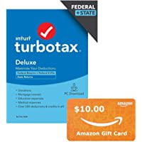 TurboTax Deluxe 2020 Federal and State Returns Tax Software