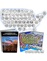 Complete 50 Uncirculated State (99-08) Quarter Collection Set + 6 territory quarters from the US Territories Program in a Beautiful Folder Display Book (Complete Set)