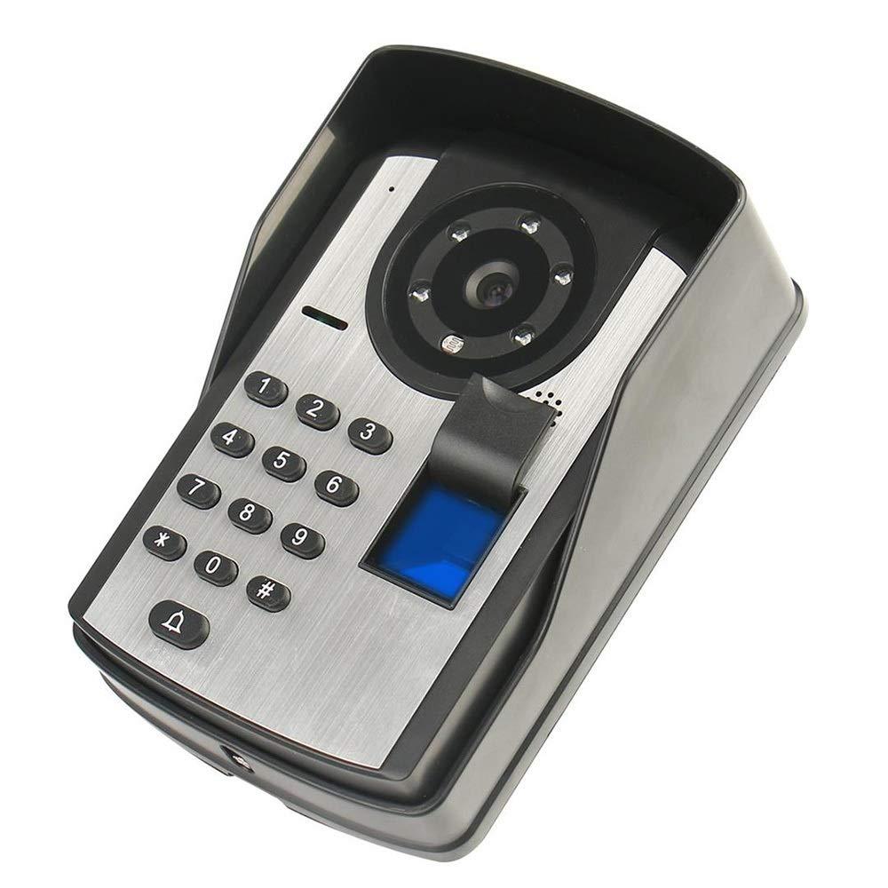KRPENRIO Touch type 7 inch fingerprint password remote control unlocking video doorbell Night vision waterproof electronic visual smart doorbell