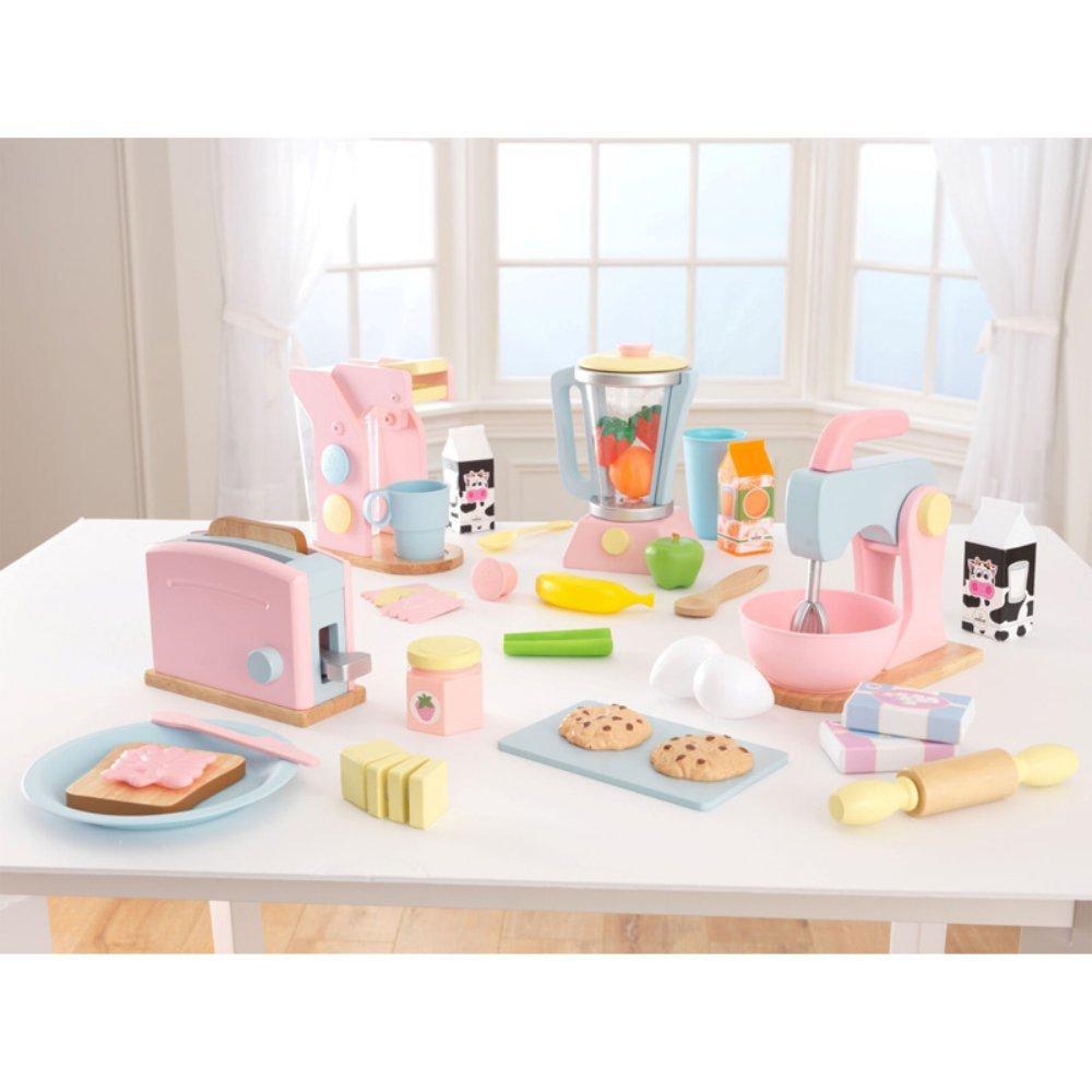Amazon.com: KidKraft 4 Pack Pastel Play Kitchen Accessories: Toys ...