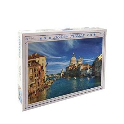 Venice-Jigsaw Puzzles for Adults 1000 Pieces Landscape Puzzle Set, Kill Time Entertainment Challenge, Funny Family Games,Home Decoration: Toys & Games