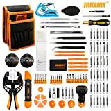 Jakemy Screwdriver Set, 99 in 1 with 50 Magnetic Precision Driver Bits, Repair Tool kit with Pocket Tool Bag for iPhone 8 / Plus, Computer, Macbook, Cell Phone, PC, Laptop, Tablet, Game Console