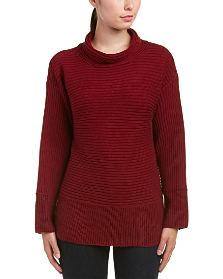 Vince Camuto Women's Long Sleeve Turtleneck Ribbed Sweater Malbec ...