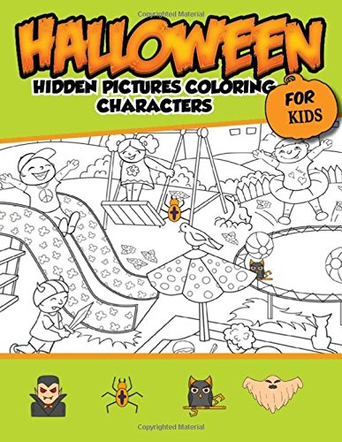 Halloween Hidden Pictures Coloring Charaters For Kids: Hidden Pictures For (Halloween Charaters)
