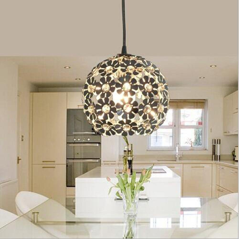 Wei-d Modern Simple Fashion Single Head Aluminum Material Plum Blossom Style Restaurant Entrance Hallway Corridor Lighting Chandelier , as picture by WEIWEI