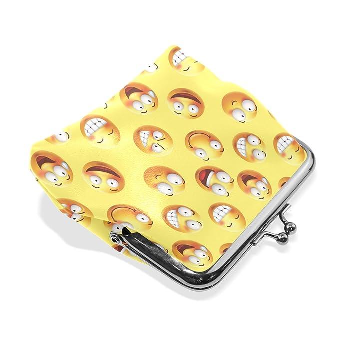 Amazon.com: Bolsas de monedas con emoticono de emoticono de ...