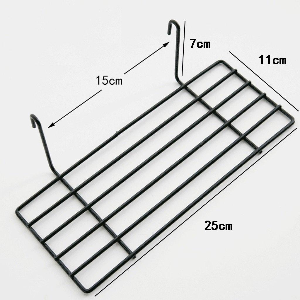 BJLWT Tray Wrought Iron Rack, Simple Creative Wall Storage Rack 25117cm Organizer (Color : Black)