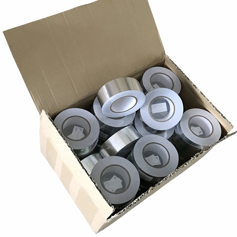 Viewm Multipurpose Aluminum Foil Tape 30-Roll for HVAC, Ducts Insulation and More, Silvery (2'' x 55yd)