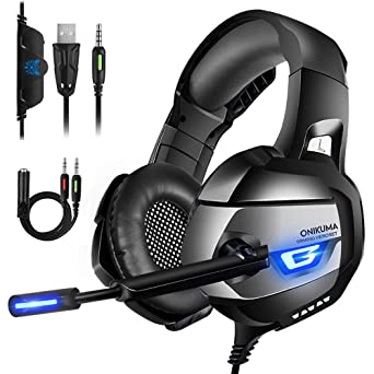 fb1fb1b1991 ONIKUMA Gaming Headset Xbox One Headset Upgrade PS4 Headset [2019 K5 Pro]  with Noise