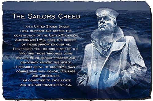 amazoncom redeye laserworks the sailors creed stone plaque from home kitchen