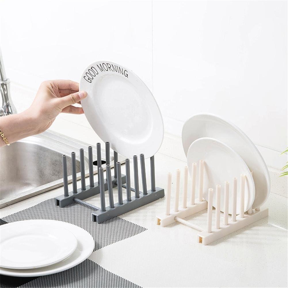 Estante de almacenamiento de plástico con escurridor de platos de cocina, estante de filtrado de agua para cubiertas de comedor, cuenco, plato sobre fregadero, escurreplatos, beige: Amazon.es: Bricolaje y herramientas