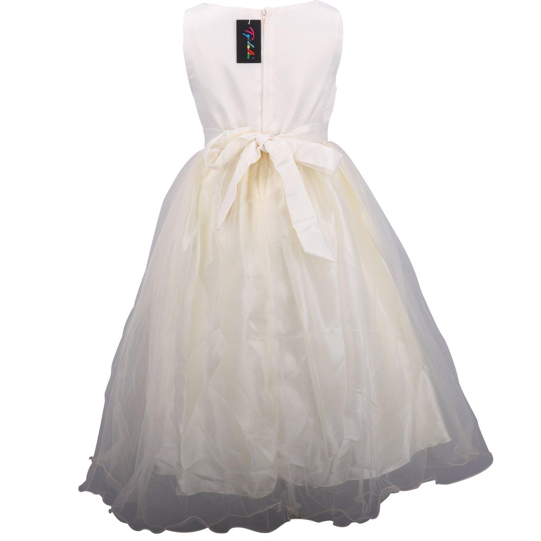 Tyidalin Hochzeit Kleid für Kinder Mädchen mit Handschuhen und ...