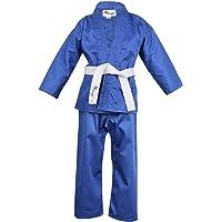 Norman Azul Infantil Traje de Karate Cinturón Blanco