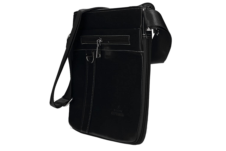 4e3bf7ebd7 Bandoulière homme EGON FURSTENBERG noir sacoche plate VF398: Amazon.fr:  Vêtements et accessoires
