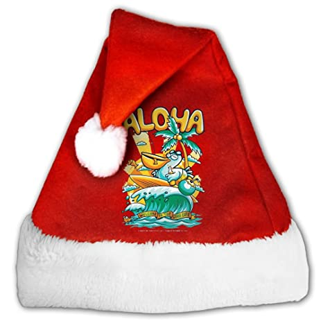 aloha seagulls velvet christmas hats shiny novelty santa claus hats christmas costume headwear party supplies for