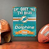 Party Animal Miami Dolphins Embossed Metal Vintage Sign