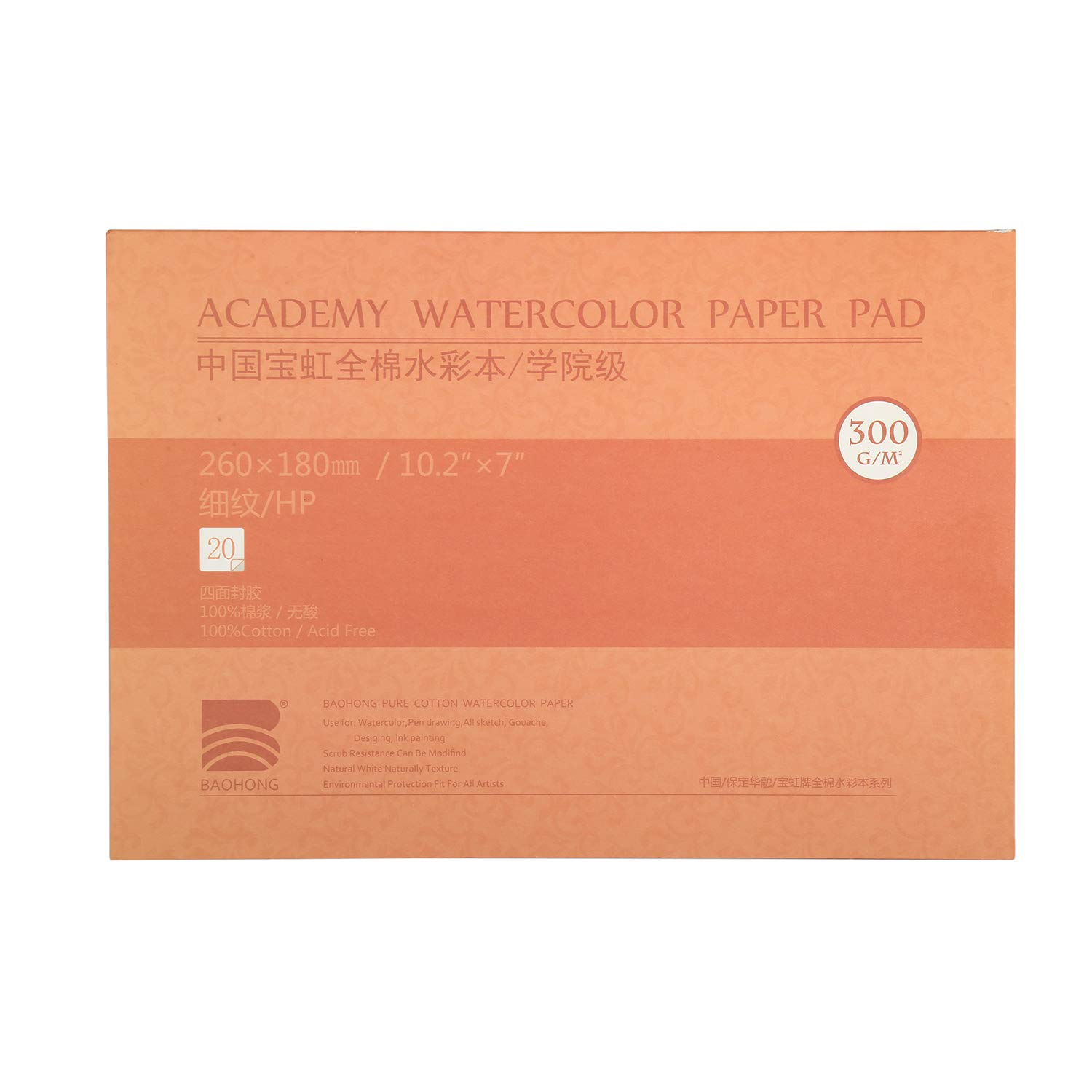 20 Sheets Watercolor Papers by MEEDEN 5 x 7 inches Watercolor Paper 100/% Cotton Cold Press Watercolor Pad 140lb//300gsm