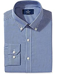 Men's Fitted Pattern Non-Iron Dress Shirt (3 Collars...
