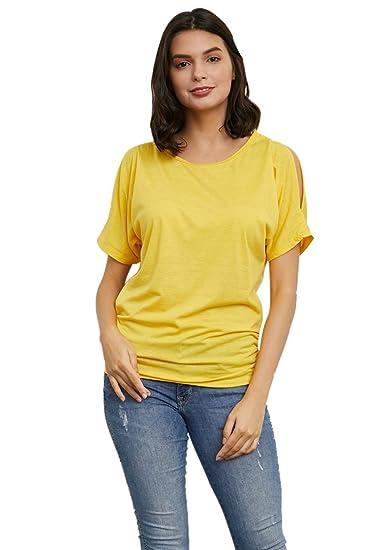 Camiseta Manga Corta Mujer Casual Solid Diario Top Top De La Blusa: Amazon.es: Ropa y accesorios