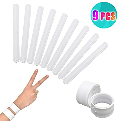 Timoo 9 Pcs White Silicone Slap Bracelets Toy, Slap Bands for Kids - Soft & Safe for Kids Boys and Girls Party Favors: Home & Kitchen